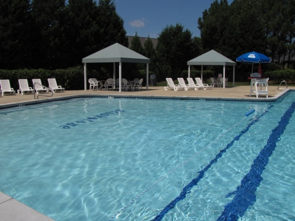 Cool off on warm summer days at the Brookstone Community Pool.