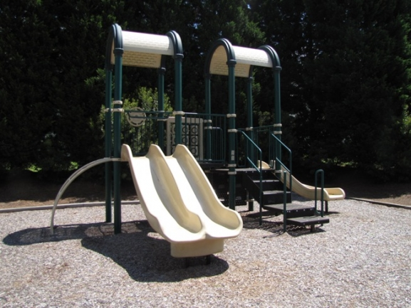 Kids will love spending time at the community playground.