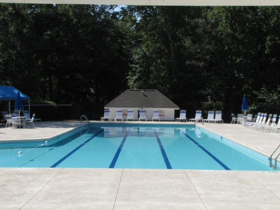 Cool off on warmer days by the Beckett Crossing pool.