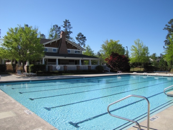 The impressive swimming pool complex is available to residents with a pool membership.