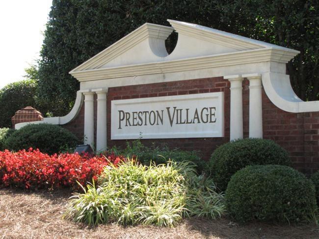 Preston Village Neighborhood Sign